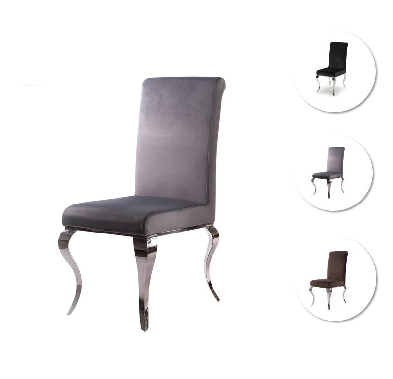 Awe Inspiring Louis Chrome Dining Chairs Grey Camellatalisay Diy Chair Ideas Camellatalisaycom