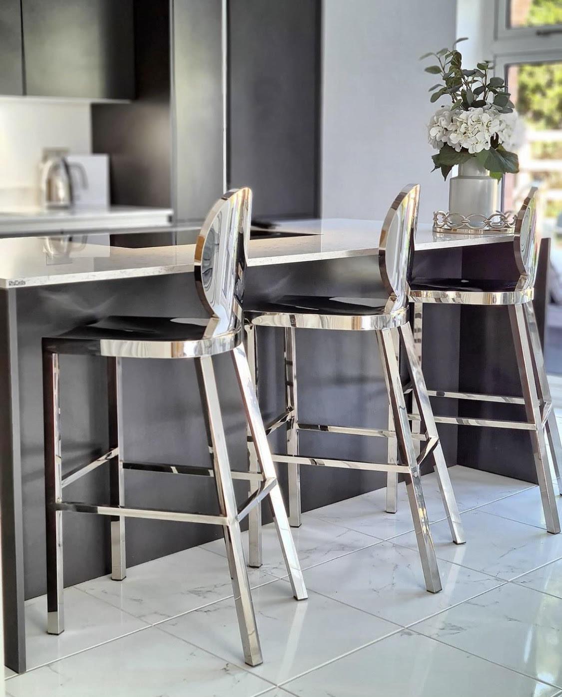 Picture of: Kardashian Chrome 65cm Breakfast Bar Stool Niches